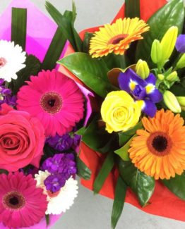 Colorful flower bouquets