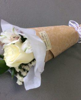 White flower bouquets