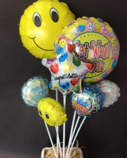 Smiley face balloons